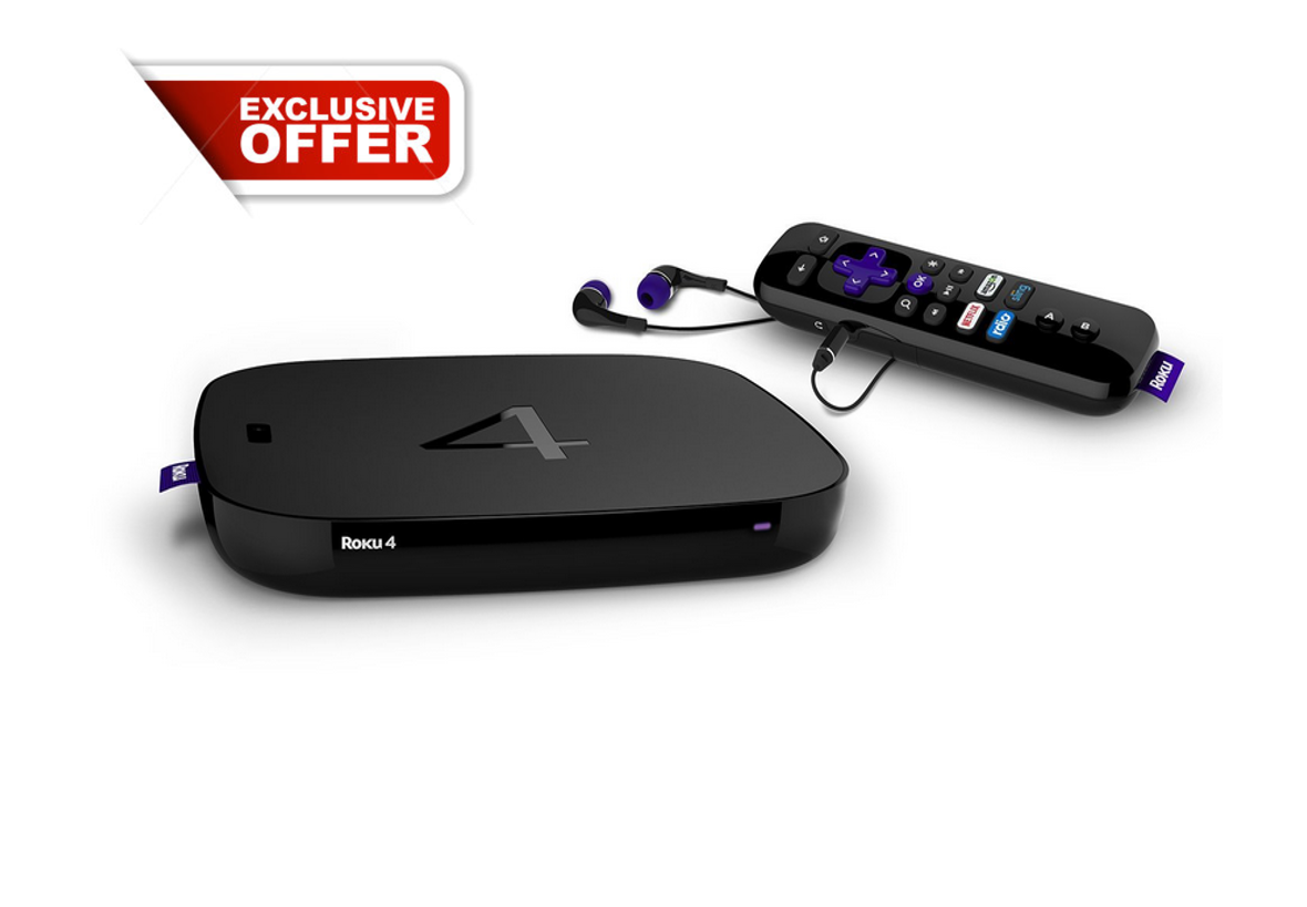 Roku Streaming Media Player 4K UHD w//Enhanced Remote